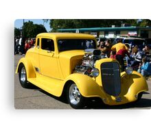 yellow street rod Canvas Print
