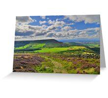 Yorkshire: The Path Along Cringle Moor Greeting Card