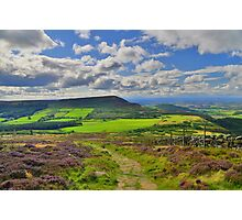 Yorkshire: The Path Along Cringle Moor Photographic Print