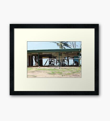 Water and Wind damage Cyclone Yasi - Tully Heads, North Queensland, Australia Framed Print