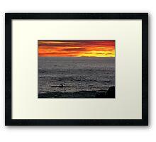 Canoer at sunset Framed Print