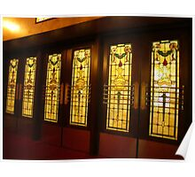 The glass doors inside the Elgin Theatre Poster