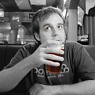 Beer Thinker (selective color) by lroof