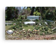 Tidal surge debris after Cyclone Yasi - Cardwell, North Queensland, Australia Canvas Print
