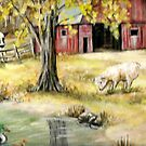 Fall Barn by Pamela Plante