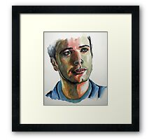 Jensen Ackles, featured in No Nudes Group and Painters Universe Framed Print