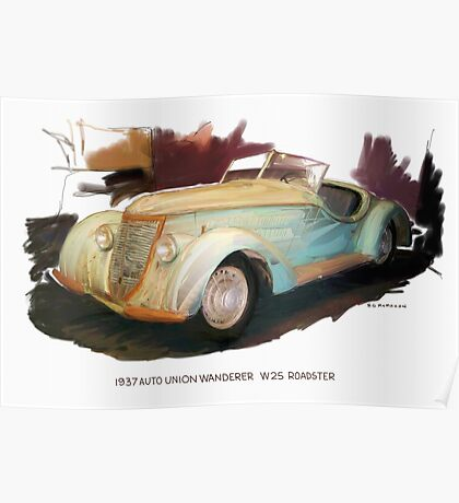1937 Auto Union Wanderer Poster