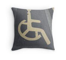 International pictogram Throw Pillow
