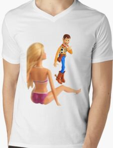 Woody sneaky peek Mens V-Neck T-Shirt