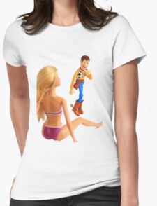Woody sneaky peek Womens Fitted T-Shirt