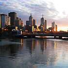 Melbourne Southbank Sunrise View by christina chan