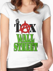 Tax Wall Street -- Occupy Wall Street Protests Women's Fitted Scoop T-Shirt