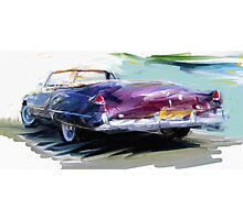 Classic Cadillac Convertable Photographic Print