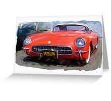Red 1954 Corvette Greeting Card