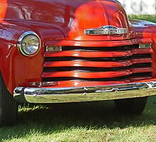 Vintage Red Pickup Truck by Margie Avellino