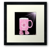 ¯`'·.¸(♥)¸.·'´¯ Pink Mug For The Cause~ Breast Cancer Awareness¯`'·.¸(♥)¸.·'´¯ Framed Print