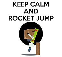 Keep Calm And Rocket Jump Photographic Print