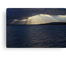 Connel Sunset Crepuscular Rays Canvas Print