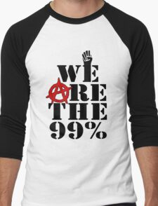 We Are The 99% Occupy Wall Street Men's Baseball ¾ T-Shirt