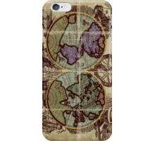 Old world sea map iPhone Case/Skin