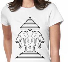 Erawan Lao / Laos Three Headed Elephant Womens Fitted T-Shirt