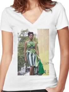 African Culture Festival London Women's Fitted V-Neck T-Shirt