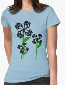 Technical Flowers Womens Fitted T-Shirt
