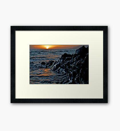 Lava Rock Sunset II Framed Print