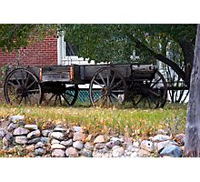 Workless Hay Wagon Photographic Print