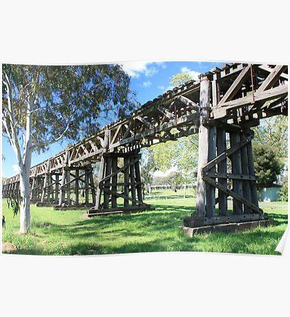 Railway Viaduct, Gundagai NSW Poster