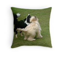 Love will find a way no matter what your breed or colour....  Throw Pillow