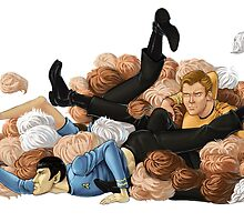 Laocoon orgy of tribbles by blatterbury