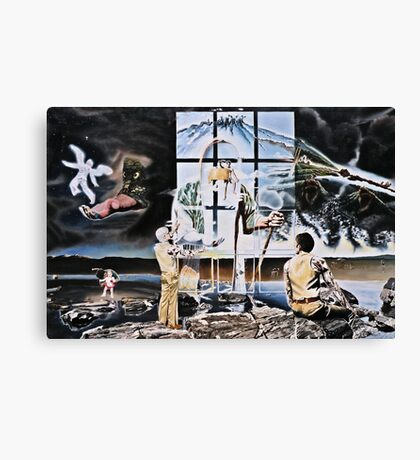 """Surrealism's Windows of Allegory - oil on canvas - 48"""" x 32"""" Canvas Print"""
