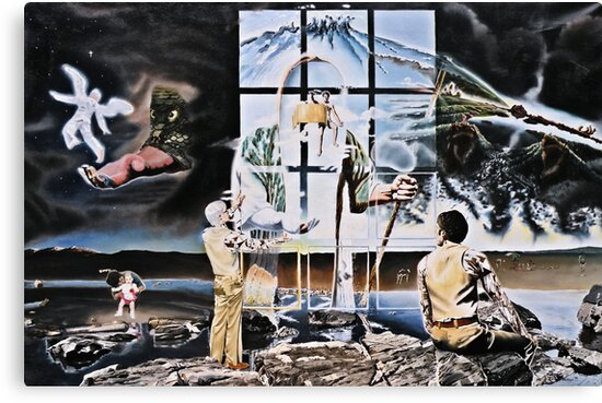 """Surrealism's Windows of Allegory - oil on canvas - 48"""" x 32"""" by Dave Martsolf"""