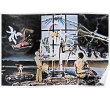"""Surrealism's Windows of Allegory - oil on canvas - 48"""" x 32"""" Poster"""