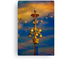 Evening On The Seafront In Eastbourne Canvas Print