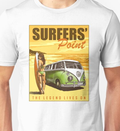 VW Kombi Surf Design Unisex T-Shirt