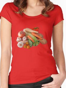Fresh Vegetable Selection Women's Fitted Scoop T-Shirt