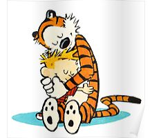Calvin and hobbes cartoon Poster