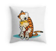 Calvin and hobbes cartoon Throw Pillow