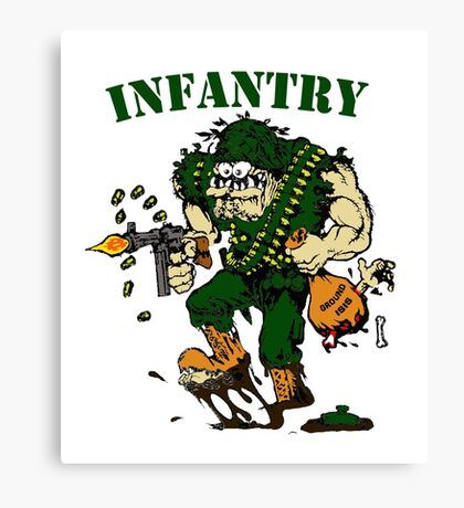 Infantry grunt ground isis Canvas Print