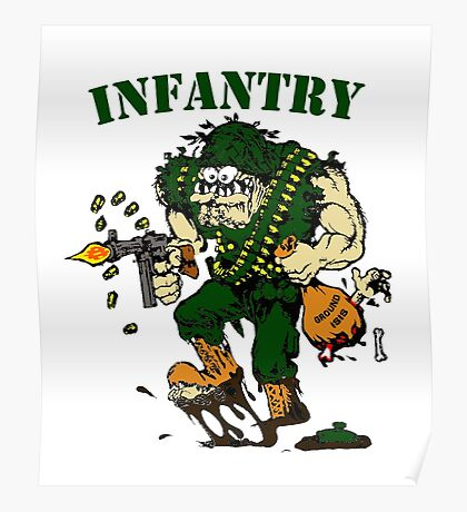 Infantry grunt ground isis Poster