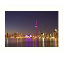 "CN Tower Turned Pink For Breast Cancer Month ""IN HONOR"" Art Print"