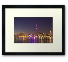 "CN Tower Turned Pink For Breast Cancer Month ""IN HONOR"" Framed Print"