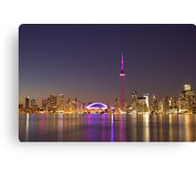 "CN Tower Turned Pink For Breast Cancer Month ""IN HONOR"" Canvas Print"