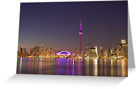 """CN Tower Turned Pink For Breast Cancer Month """"IN HONOR"""" by NewfieKeith"""