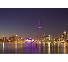 "CN Tower Turned Pink For Breast Cancer Month ""IN HONOR"" Photographic Print"