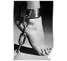 Woman Barefoot in Cuffes Poster