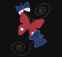 Patriotic Butterflies by 2HivelysArt