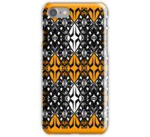 Orange tech pattern iPhone Case/Skin